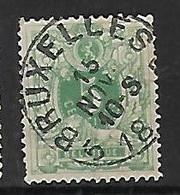 OCB Nr 45 Lion Leeuw Centrale Stempel Bruxelles 5 - 1869-1888 Lion Couché