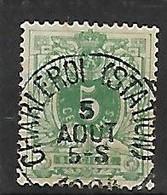 OCB Nr 45 Lion Leeuw Centrale Stempel Charleroi Station - 1869-1888 Lion Couché