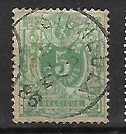 OCB Nr 45 Lion Leeuw Centrale Stempel Signeulx - 1869-1888 Lion Couché