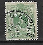 OCB Nr 45 Lion Leeuw Centrale Stempel Dixmude  ( Diksmuide ) - 1869-1888 Lion Couché
