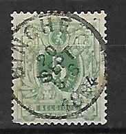 OCB Nr 45 Lion Leeuw Centrale Stempel Binche - 1869-1888 Lion Couché