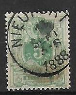 OCB Nr 45 Lion Leeuw Centrale Stempel Nieuport  ( Nieuwpoort ) - 1869-1888 Lion Couché