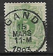 OCB Nr 45 Lion Leeuw Centrale Stempel Gand - 1869-1888 Lion Couché