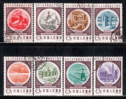 China P.R. 1959 Mi# 473-480 Used - 10th Anniv Of The Proclamation Of The People's Republic Of China (III): Industry - Gebraucht
