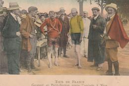 Tour De France 1910. Georget Et Petit-Breton Après L'arrivée à Nice.scan - Wielrennen