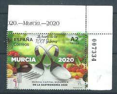 ESPAGNE SPANIEN SPAIN ESPAÑA 2020 MURCIA SPANISH CAPITAL OF GASTRONOMY USED ED 5380 YT 5116 MI 5412 - 2011-... Usati