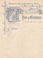 PARIS FOY GUERIN MANUFACTURE DE MEUBLES EN FER DE THEATRE ANNEE 1901 - Non Classificati