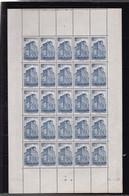 Monaco Feuille Entière  10f   N° 261  La Cathédrale    Coin Daté 24  :01 :1946  ( Usure  Sur  Le Pourtour De Feuille ) - Neufs
