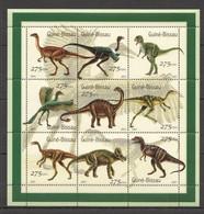 NS0452 2001 GUINEA-BISSAU FAUNA PREHISTORIC ANIMALS REPTILES DINOSAURS 1SH MNH - Preistorici