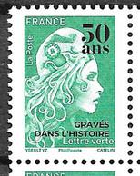 """FRANCE 5439 Marianne D'Yz Surchargée """"50 Ans Gravés Dans L'histoire """" Neuf ** Tirage 3500 Ex  . - Neufs"""