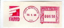 EMA RED METER -  FARID - MONCALIERI - TORINO - EMA FREISTEMPEL - 03536 - Marcophilie - EMA (Empreintes Machines)