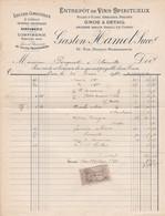 CAEN GASTON HAMEL ENTREPOT DE VINS SPIRITUEUX PARFUMERIE DENREES COLONIALES ANNEE 1912 ANCIENNEMENT HAREL LE CORNU - Non Classificati