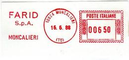 EMA RED METER -  FARID S.p.A.  - MONCALIERI - TORINO - EMA FREISTEMPEL - 03537 - Marcophilie - EMA (Empreintes Machines)
