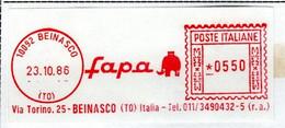 EMA RED METER -  FAPA - BEINASCO - TORINO - EMA FREISTEMPEL - 03538 - Marcophilie - EMA (Empreintes Machines)