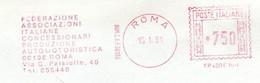 EMA RED METER -  FEDERAZIONE ASSOCIAZIONI ITALIANE CONCESSIONARI AUTOMOTORISTICA - ROMA - EMA FREISTEMPEL - 03539 - Marcophilie - EMA (Empreintes Machines)