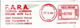 EMA RED METER - F.A.R.A. FABBRICA ACCESSORI RICAMBI AUTO S.p.A. - BEINASCO - TORINO - EMA FREISTEMPEL - 03540 - Marcophilie - EMA (Empreintes Machines)
