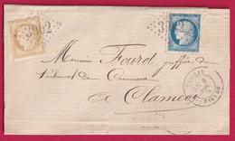N°55 60 GC 3902 CAD TYPE 18 TANNAY NIEVRE  POUR CLAMECY - 1849-1876: Période Classique