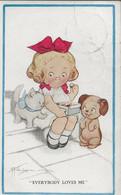 "Meisje Eet Chocolaatjes  - Girl Eat Chocolates - ""Everybody Loves Me"" - Ill. G.G. Wiederseim  - A1185 - Andere Illustrators"