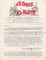 CANNES LA TABLE ET LA ROUTE HOTELLERIE ET RESTAURATION GASTRONOMIQUE DU TOURISME ET DE L AUTOMOBILE ANNEE 1951 - Non Classificati