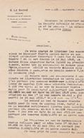CAEN E LE SACHE NOTAIRE SUCCESSEUR DE MR LEMAITRE ANNEE 1930 LETTRE A MR PIERRE LUCIEN MARIE CORDONNIER A CAEN - Non Classificati