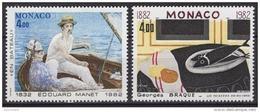 MONACO 1982 - SERIE  N° 1347 ET 1348 - 2 TP NEUFS** - Neufs