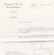 PARIS COMPAGNIE GENERALE TRANSATLANTIQUE LETTRE A MR JEAN LE HIR DE LA GASTRONOMIE NORMANDE ANNEE 1961 - Non Classificati
