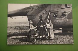 Russia. Siberia. Komi Republic  - Old Postcard -  - Helicopter Aerodrome - 1966 - Aeródromos