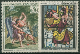 Frankreich 1963 Kunst Wandbild Kirchenfenster 1426/27 Gestempelt - Used Stamps