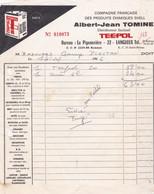 LANGUEUX ALBERT JEAN TOMINE PRODUITS CHIMIQUES SHELL DISTRIBUTEUR EXCLUSIF TEEPOL ANNE 1966 - Non Classificati