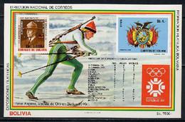 Bolivia 1984 Olympic Games Sarajevo S/s MNH -scarce- - Invierno 1984: Sarajevo