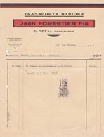 PLOEZAL JEAN FORESTIER TRANSPORTS RAPIDES ANNE 1934 A MR BENECH A PONTRIEUX - Non Classificati
