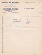 PEDERNEC OLLIVIER LE TROADEC PRODUITS DE BRETAGNE LE MENEZ BRE SALAISONS JAMBONS SEC ANNEE 1938 - Non Classificati