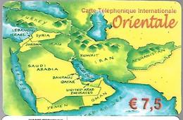 CARTE-PREPAYEE-ORIENTALE- 7.5€-CARTE MOYEN ORIENT- GRATTEE-DATE 30/09/2003-TBE-LUXE - Altre Schede Prepagate