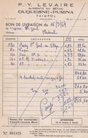 PAIMPOL P Y LEVAIRE ALIMENTS DU BETAIL DUQUESNE PURINA ANNEE 1964 - Non Classificati