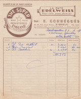 SAINT BRIEUC F GORREGUES THE SUPER BOOT POLISH REGISTERED ENGLAND PATE EDELWEISS ANNEE 1959 - Non Classificati