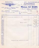 SAINT BRIEUC MAISON LE BARS RADIATEURS CHAUSSON ANNEE 1966 A MR BADOUARD A PLESTAN - Non Classificati
