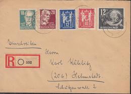 DDR 243-245, SBZ 215, 219, MiF, Auf R-Brief Mit Stempel: Markranstadt 12.12.1949 - Briefe U. Dokumente