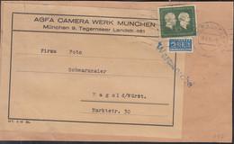 BRD 197 EF, Warenprobe Der Fa. AGFA, Auf Briefstück Mit Stempel: München 28.4.54 - Briefe U. Dokumente