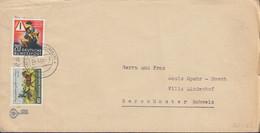 BRD 160, 162 MiF, Auf Auslands-Brief Mit Stempel: Offenbach 4.4.1953 - Briefe U. Dokumente