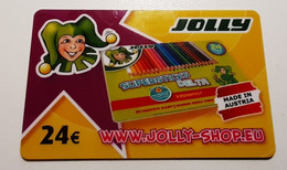 JOLLY Crayons Gift Card 24 EUR Slovenia Empty - Gift Cards