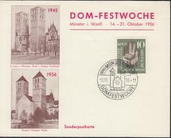 BRD 239 EF, Auf Sonderkarte Mit Sonderstempel: Münster (Westf.) Domfestwoche 16.10.1956 - Briefe U. Dokumente