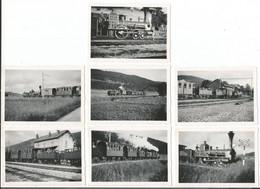 Vallée De Joux, Chemin De Fer, Le Brassus, Souvenir 22 Juillet 1948 (1948) 7 Photos Format 6x9.5 - VD Vaud