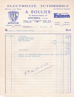SAINT BRIEUC A BOULIER ELECTRICITE AUTOMOBILE SERVICE MARCHAL FULMEN DISTRIBUTEURS DELCO ANNEE 1961 - Non Classificati
