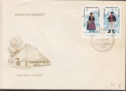 DDR 1074-1079, 3 FDC, Volkstrachten, 1964 - FDC: Briefe