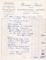 SAINT BRIEUC BERNARD AMICE ARTISAN PEINTURE VITRERIE PAPIERS PEINTS ANNEE 1961 - Non Classificati