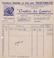 SAINT BRIEUC COMPTOIR DES LUMIERES FOURNITURES EN GROS POUR L ELECTRICITE  ANNEE 1954 - Non Classificati