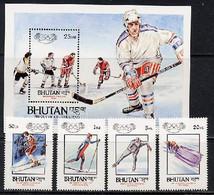 Bhutan 1984 Olympic Games Sarajevo Set Of 4 + S/s MNH - Invierno 1984: Sarajevo