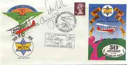 Great Britain 1979 Illustrated Commemorative Cover For 50th Anniversary Of The Grouse DH Moth Air Rally With Special Lab - 1971-1980 Dezimalausgaben