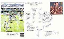 Great Britain 1997 Old England XI (v Haywards Heath CC) Illustrated Cover With Special 'Cricket' Cancel, Signed By Jim P - 1991-2000 Dezimalausgaben