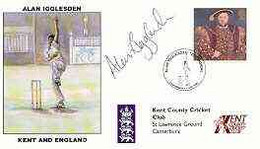 Great Britain 1998 Alan Igglesden Testimonial Illustrated Cover With Special 'Cricket' Cancel, Signed By Alan Igglesden - 1991-2000 Dezimalausgaben
